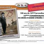Paris 25.-26. September 2010 : ein Andenken bewahren - vor 75 Jahren starb Andre Citroen