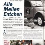 Alle Meilen Entchen: 2CV 1954 auf der Mille Miglia