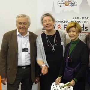 v.l.n.r.: J.P. Cardinal, Mme. Marie Christian (Citroën Club France), Mme. Ariane Audouin-Dubreuil