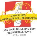 Das 24. Welttreffen der 2CV Freunde ist für 2021 abgesagt
